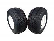 MASSFX Wheel Tire Combo 18x8.5-8 Golf Cart Tire White 4/4 Rim 2-PACK
