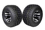 "MASSFX 20"" Rear Tire w Machined 9"" Rear Rim 20x10-9 Tire 9x8 4/110 Wheel 2 PACK"