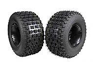 "MASSFX 20"" Rear Tire with Black 9"" Rear Rim 20x10-9 Tire 9x8 4/115 Wheel 2 PACK"
