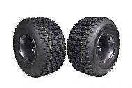 "MASSFX 20"" Rear Tire w Gun Metal 9"" Rear Rim 20x10-9 Tire 9x8 4/115 Wheel 2PACK"