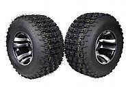 "MASSFX 20"" Rear Tire w Machined 9"" Rear Rim 20x10-9 Tire 9x8 4/115 Wheel 2 PACK"