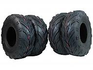MASSFX Go Kart/ATV Tires 4 set 145x70-6 4Ply