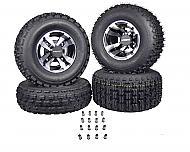 MASSFX 22x7-10 Front 20x10-9 Rear Tires Machined Rim 10x5 4/156 9x8 4/115 Wheels