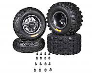Ambush 21x7-10 20x11-9 Tires w MASSFX Gunmetal Rims 10x5 4/144 9x8 4/110 Wheels