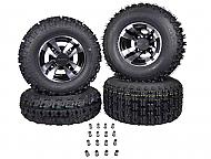 MASSFX 21x7-10 Front 20x10-9 Rear Tires Machined Rim 10x5 4/156 9x8 4/115 Wheels