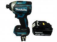 "Makita XDT14Z 1/4"" Brushless Impact Driver BL1830B 3 Ah Battery Pack DC18RC"