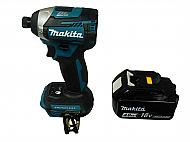 """Makita XDT14Z18V 1/4"""" Impact Driver with BL1840B Battery Pack"""