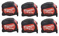 Milwaukee Elec Tool 48-22-9925 25' Stud Tape Measure - Quantity 6