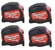 Milwaukee 48-22-9925G -STUD-4-PK- 25' Tape Measure