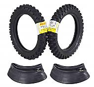 Pirelli Scorpion MX Extra J 2.50-10 Front 2.75-10 Rear Pit Bike Motorcycle Tires Set with Tubes