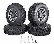 MASSFX SL 25x8-12 25x10-12 Tire w/ Gunmetal 12x7 4/156 Rims Wheel & Tire Kit