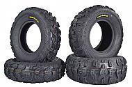 Kenda Bear Claw EX 25x8-12 F 25x10-12 R ATV 6 PLY Tires Bearclaw - 4 Pack Set