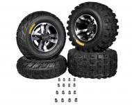 Ambush 21x7-10 20x10-9 Tires w MASSFX Machined Rims 10x5 4/156 9x8 4/115 Wheels