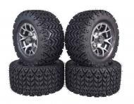 MASSFX 20x10-10 Tire 10x7 4/101.6 Gun metal Rim Golf Cart Wheel Tire Kit 4 Pack
