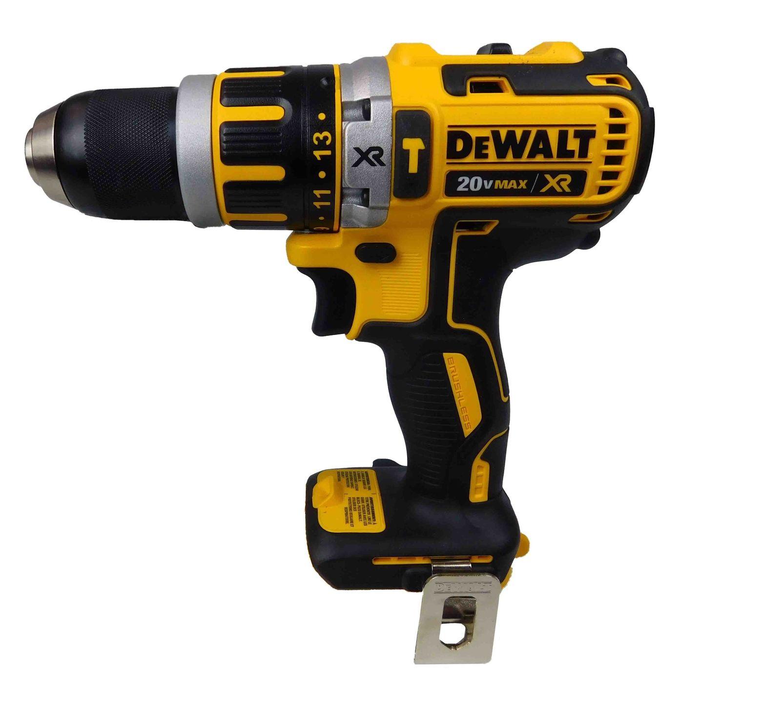 Dewalt-20V-DCD796B-Hammer-Drill-DCB204-4-Ah-Battery-DCB115-Battery-Charger-Bag-image-2