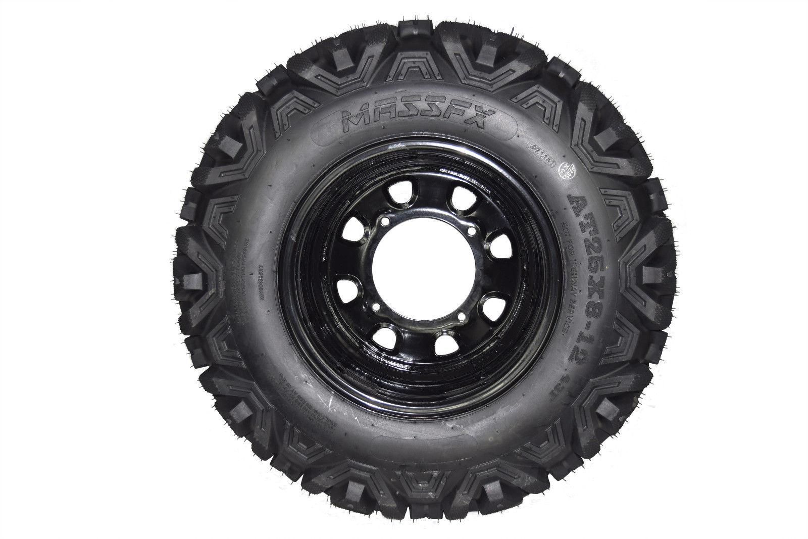 ITP Delta Steel Wheel 12x7 4//156 Gloss Black 4+3 Polaris RZR 800 2008-2014
