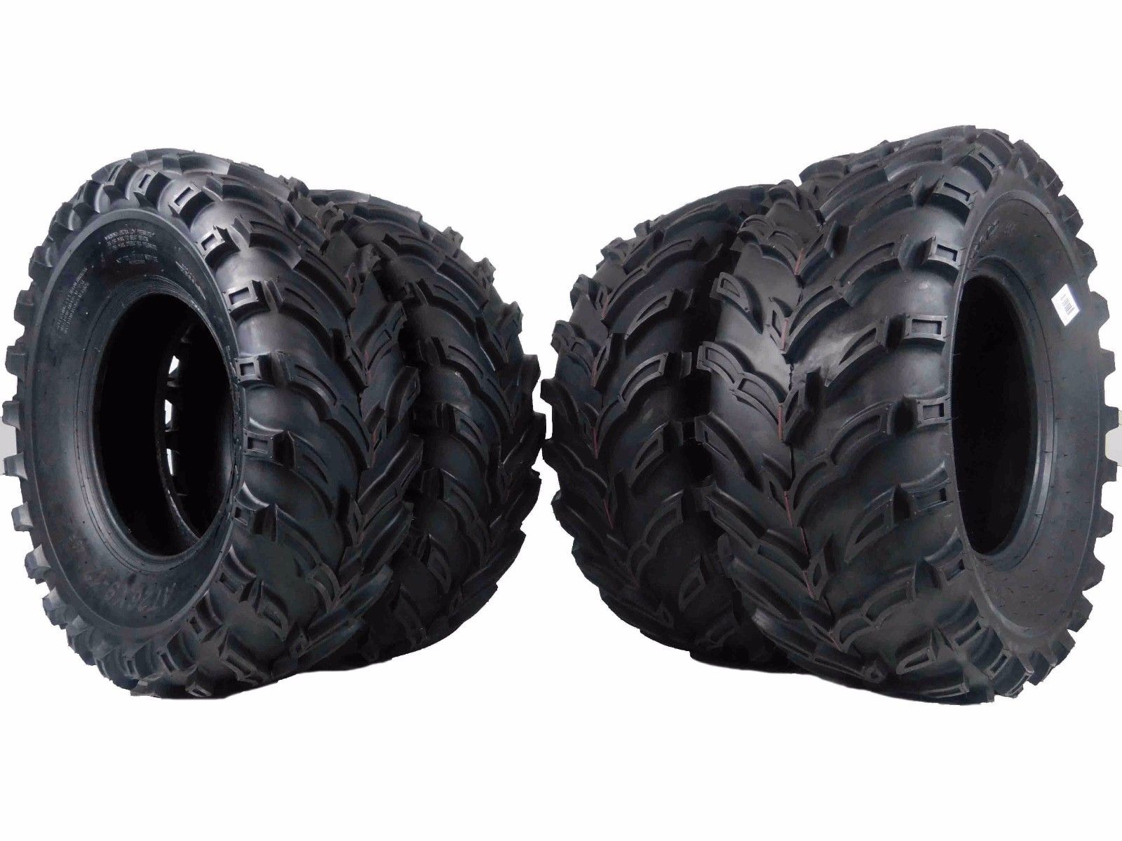 New MASSFX MS Claw ATV Tires 2 26x9-12 Front 2 26x11-12 Rear 4Set 6Ply Bear K299